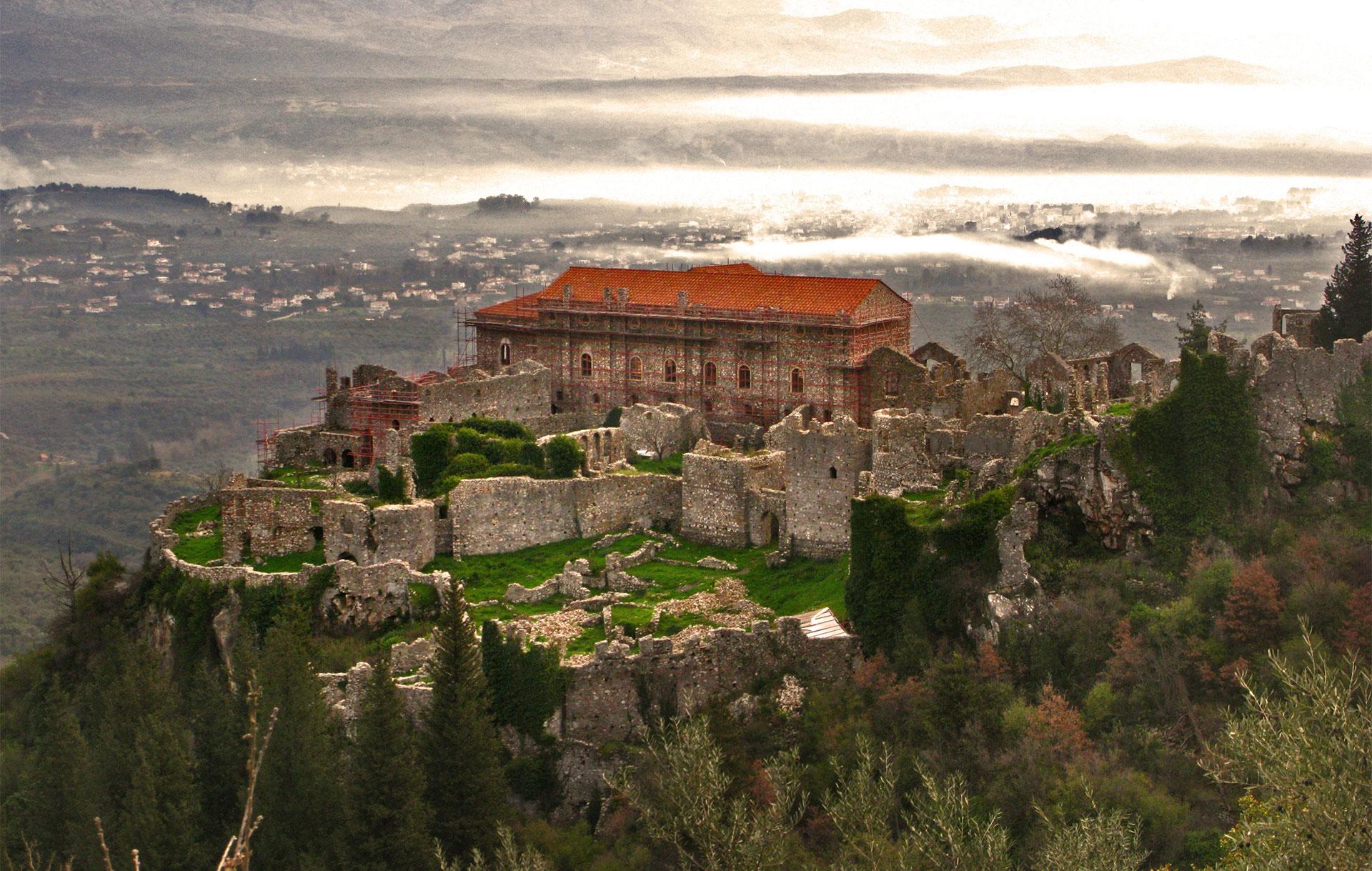 Mystras Castle Pilgrimage Tour Peloponnese