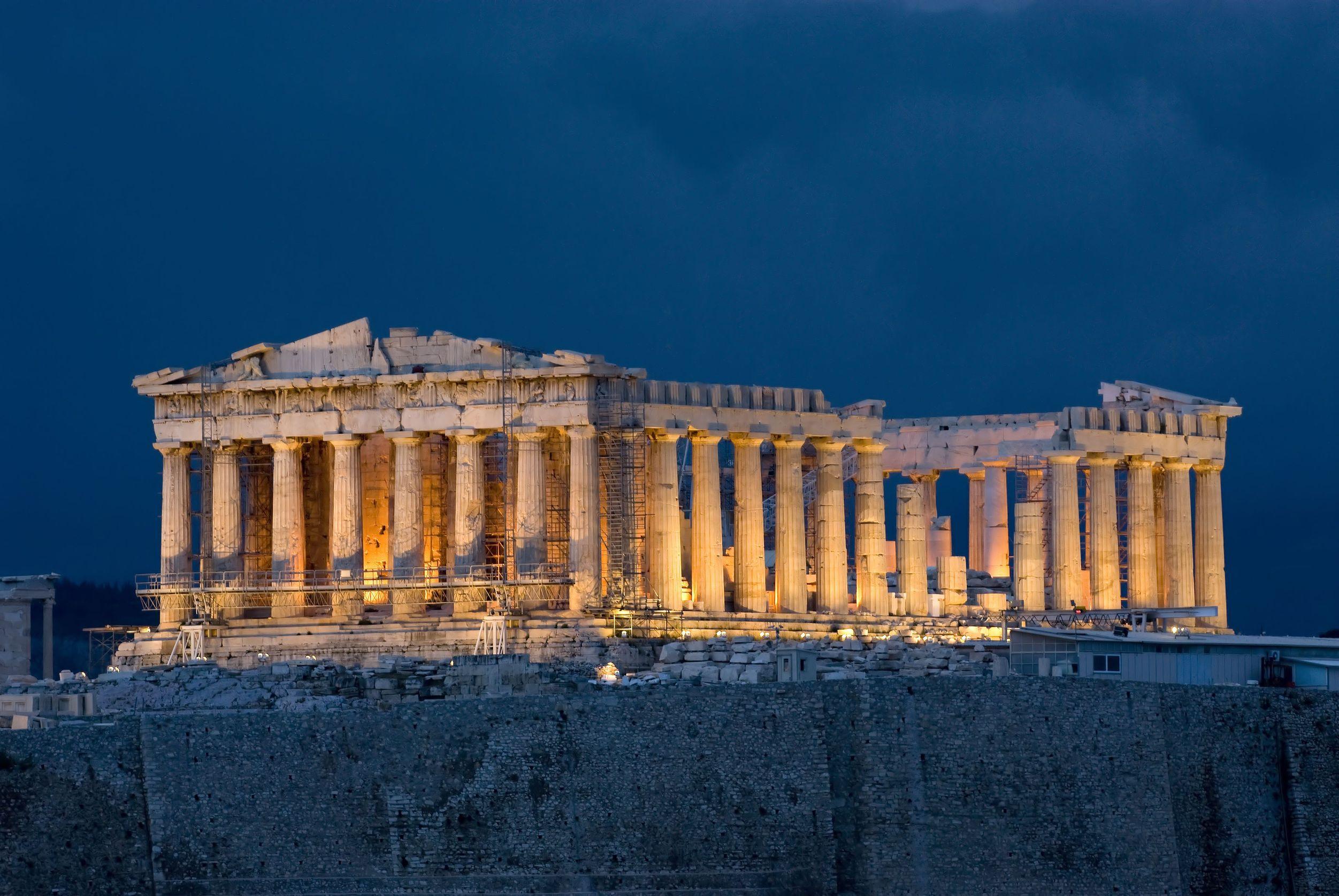 Acropolis Parthenon, Byzantine Athens, Greece